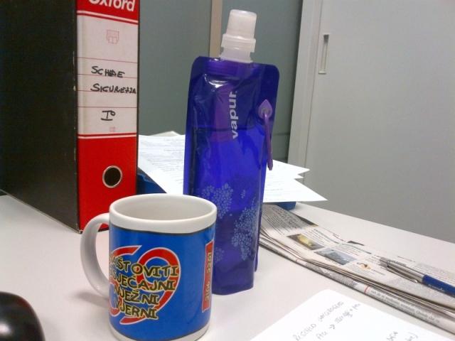 La tazza di ceramica
